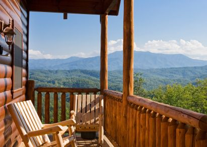 cabin in the woods at smokey mountain resorts